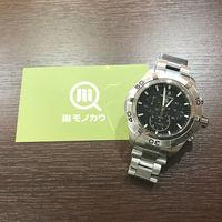 【モノカウ】タグホイヤー(TAG Heuer)アクアレーサー グランドデイト クロノグラフ 腕時計 CAF101E 黒文字盤 SS