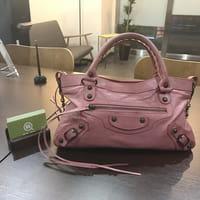 【モノカウ】バレンシアガ(BALENCIAGA)エディターズバッグ ファースト 2way バッグ ピンク