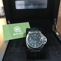 【モノカウ】パネライ(PANERAI)ルミノール ベース メンズ 手巻き 腕時計 タバコダイヤル 型番:PAM00055