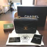 【モノカウ】シャネル(CHANEL)Vステッチ キャビアスキン/ゴールドチェーン ショルダーバッグ