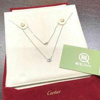 ブランド買取専門店【モノカウ】 カルティエ(Cartier) Cハート フルダイヤ ネックレス K185WG 18金ホワイトゴールド
