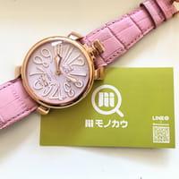 【モノカウ】ガガミラノ(GaGa MILANO)マヌアーレ48mm ユニセックス 手巻き 腕時計 型番:5011.02S 状態ランクAB