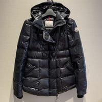 モンクレール(MONCLER)CHARLOTTE シャーロット レディース ダウンジャケット サイズ:0 黒 型番:46360 並行輸入品